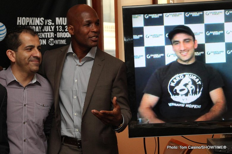 Bernard Hopkins Hopkins vs Murat Karo Murat Boxing Interviews Boxing News