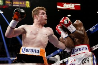 """Saul """"Canelo"""" Alvarez - (Photo credit: Esther Lin/Showtime) LAS VEGAS (July 12, 2014) – Canelo Alvarez won a close split-decision victory over Erislandy Lara in the SHOWTIME PPV main event in front a sold-out pro-Canelo crowd at MGM Grand Garden Arena in Las Vegas, Nev."""