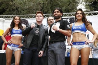 """Alfredo Angulo, Saul """"Canelo"""" Alvarez - Boxing fans across the nation will have a ringside seat when Fathom Events, Golden Boy Promotions and Canelo Promotions bring the highly-anticipated 12-round bout between boxing superstar Canelo Alvarez and the relentless Alfredo """"El Perro"""" Angulo on Saturday, March 8 at 9:00 p.m. ET / 8:00 p.m. CT / 7:00 p.m. MT / 6:00 p.m. PT / 5:00 p.m. AK / 4:00 p.m. HI. """"Toe to Toe: Canelo vs. Angulo"""" will be broadcast live to select theaters nationwideforan action-packed fight from the MGM Grand Garden Arena in Las Vegas that assures redemption for just one of these elite fighters. The fight card also features Two-Division World Champion Leo """"Terremoto"""" Santa Cruz (27-0-1, 15 KO's) against Former World Champion Cristian """"El Diamante"""" Mijares (49-7-2, 24 KO's), WBC Lightweight World Champion Omar """"Panterita"""" Figueroa (24-0-1, 17 KO's) opposite Canelo's older brother, Lightweight Contender Ricardo """"Dinamita"""" Alvarez (23-2-3, 14 KO's), as well as IBF Middleweight World Champion """"King"""" Carlos Molina (22-5-2, 6 KO's)against undefeated Jermall Charlo (17-0, 13 KO's)."""
