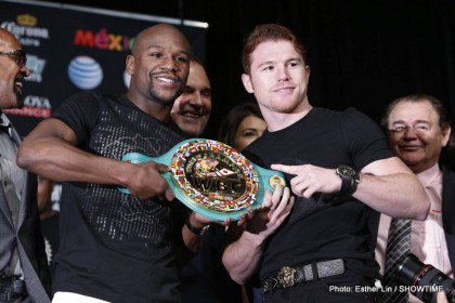 "Floyd Mayweather Jr Mayweather vs. Canelo Saul ""Canelo"" Alvarez Boxing News Top Stories Boxing"