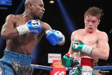 """Floyd Mayweather Jr Mayweather vs. Canelo Saul """"Canelo"""" Alvarez Boxing News Boxing Results"""