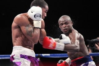 "Dierry Jean, Lamont Peterson, Peterson vs. Jean - (Photo credit: Tom Casino/Showtime) By Justin Jones & Paul ""Paparazzi"" Jones: Washington, DC — There was no better way to describe Lamont Peterson's performance last night at the DC Armory against challenger Dierry Jean other than ""locked in."""