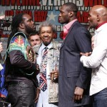 Bermane Stiverne, Deontay Wilder, Tyson Fury - (Photo credit: Esther Lin/Showtime) Deontay Wilder (32-0, 32 KOs) hasn't yet finished his business with WBC heavyweight champion Bermane Stiverne (24-1-1, 21 KOs) for this Saturday night, but already Deontay is looking past the fight towards a showdown with Britain's Tyson Fury. Deontay is up for the clash with Fury if he can't get a bout against IBF/IBO/WBA/WBO heavyweight champion Wladimir Klitschko.