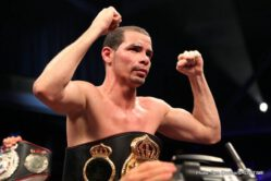 """Richard Abril, Sharif Bogere -  It may not have been an artistic success, but WBA Lightweight World Champion Richar """"El Tigre"""" Abril will take it."""