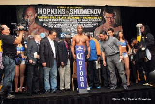 Beibut Shumenov, Bernard Hopkins, Hopkins vs. Shumenov - SHOWTIME SPORTS® TO STREAM BERNARD HOPKINS vs. BEIBUT SHUMENOV WEIGH-IN THIS FRIDAY, APRIL 18, AT 1 P.M. ET