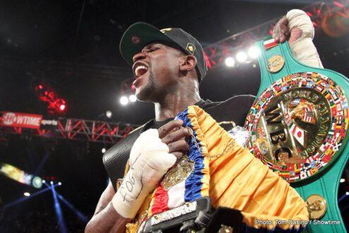 """Floyd Mayweather Jr, Mayweather vs. Canelo, Saul """"Canelo"""" Alvarez - Boxing News"""