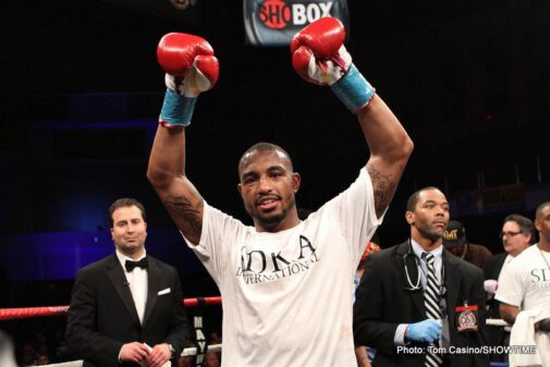 Badou Jack, J'Leon Love, Vladine Biosse -  Undefeated super middleweight J'Leon Love dominated en route to a 10th-round TKO over Vladine Biosse on Friday's ShoBox: The New Generation.