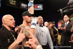 "Frank Galarza, Ivan Redkach - Promising, world-ranked southpaw Ivan Redkach (16-0, 13 KO's), of Los Angeles, by way of Ukraine, passed the toughest challenge of his career, scoring one knockdown en route to a unanimous 10-round decision over Canada's Tony Luis (17-2, 7 KO's), but the night belonged to ""The Brooklyn Rocky"" Frank ""Notorious"" Galarza (12-0-2, 8 KO's), of Brooklyn, N.Y., who registered an exciting second-round knockout over John ""Apollo Kidd'' Thompson (14-1, 5 KO's), of Newark, N.J., Friday on ShoBox: The New Generation live on SHOWTIME® from Cook Convention Center."