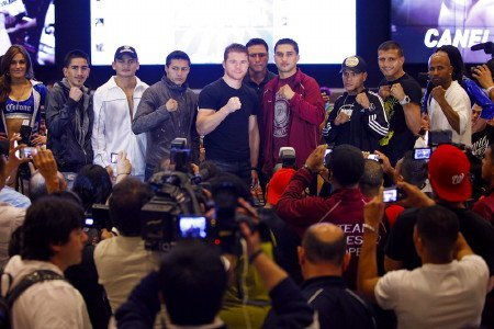 Alvarez-Lopez, Josesito Lopez, Saul Alvarez - (Photo credit: Ester Lin/Showtime) By Marc Livitz: Hardcore fans and the so-called purists alike may feel themselves a bit torn this upcoming Saturday evening. Contrary to popular American belief is the fact that Cinco de Mayo is not Mexican Independence Day. There's always been a reason why the weekend which most closely precedes or follows the sixteenth of September is a hot date for the sweet science and the old lady will be wearing her finest pearls this weekend.