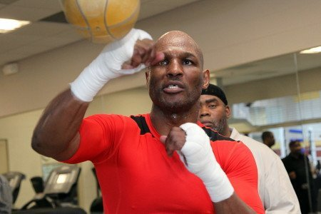 """History at the capitol"" Bernard Hopkins vs. Beibut Shumenov fighter media workout quotes"