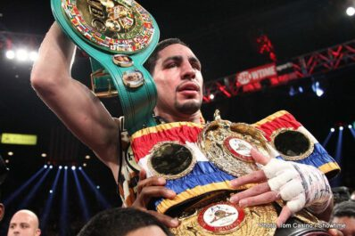 Garcia vs. Matthysse -  Danny Garcia retained the unified super lightweight world title with an impressive performance against the favored Lucas Matthysse. Utilizing solid combinations and body shots, Garcia executed a solid game plan en route to a unanimous decision (115-111, 114-112, twice).
