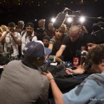 Mayweather with press