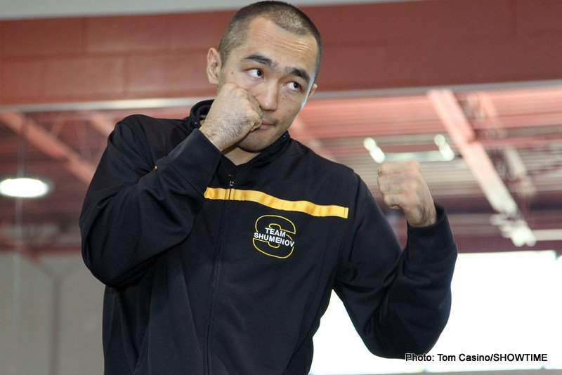 Beibut Shumenov – Junior Wright; B.J. Flores – Santos this Saturday