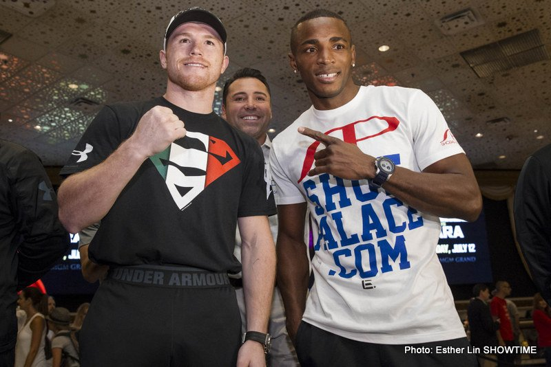 "(Photo credit: Esther Lin/Showtime) WBA junior middleweight champion Erislandy Lara (19-1-2, 12 KO's) says he's not looking past Saul ""Canelo"" Alvarez (43-1-1, 31 KOs) for their pay-per-view fight this Saturday night on Showtime, but Lara is very clear about who he's going to be going after this fight."