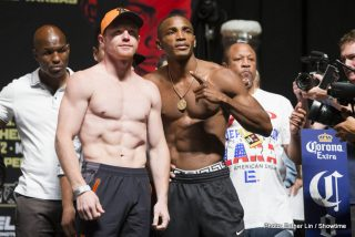 """Canelo vs. Lara, Erislandy Lara, Saul """"Canelo"""" Alvarez - This bout at the MGM Grand tonight is as good as it gets in terms of match-making. Despite the age difference of 8 years in Canelo's favor both fighters are perceived as up-and-comers and Alvarez has a superstar status with his home crowd. Lara on the other hand is deprived of a loyal home fan base for obvious reasons and will hardly be the draw in the fight."""