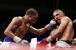 Errol Spence Jr. - LAS VEGAS (June 27, 2014) – Undefeated Errol Spence, Jr. didn't lose a round and may have made the transition from prospect to contender in a dominating unanimous decision victory (100-90 three times) over the durable Ronald Cruz in the main event of ShoBox: The New Generation on SHOWTIME® from The Joint at Hard Rock Hotel & Casino in Las Vegas.