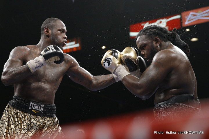 Eric Molina - I've said it countless times before. Deontay Wilder is a fighter I really WANT to like and after winning his WBC title in January against Bermane Stiverne, I'd taken baby steps toward that in terms of the Bronze Bomber answering some of the questions that fans had about him - most notably his 12 round engine and ability to take a shot.