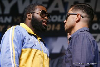 """LAS VEGAS (May, 1 2014) - Undercard fighters from """"THE MOMENT: Mayweather vs. Maidana"""" took the stage at the Hollywood Theatre at MGM Grand today for the final press conference before their fights this Saturday, May 3, at the MGM Grand Garden Arena live on SHOWTIME PPV®."""