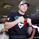"Canelo vs. Lara Erislandy Lara Saul ""Canelo"" Alvarez Press Room"