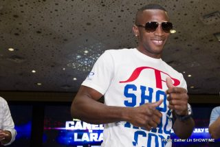 Erislandy Lara - Erislandy Lara has said he doesn't owe Canelo Alvarez anything other than left hands as he prepares do battle with the Mexican superstar this weekend.