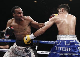 Mickey Bey, Miguel Vazquez - Mickey Bey dethroned defending IBF Lightweight World Champion Miguel Vazquez with a 12-round split decision victory, scored 115-113 Bey, 115-113 Vazquez and 119-109 Bey, in an extremely tactical match.