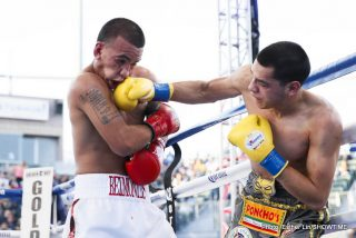 Omar Figueroa - After losing all five of his amateur fights against Belmontes, Figueroa (23-0-1, 17 KOs), of Weslaco, Texas, got his revenge in his first world title defense, outpointing Belmontes (19-4, 5 KOs), of Corpus Christi, Texas, by the scores of 118-110, 116-112 and 113-115.