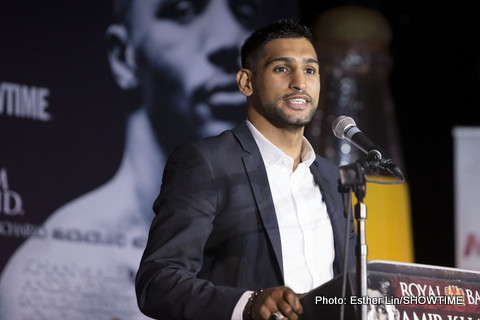 "Khan said he'd fight ""Money"" – for no money! Khan insists Mayweather ducked him"