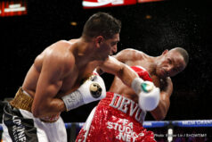 Amir Khan, Devon Alexander - Amir Khan won a convincing 12-round unanimous decision victory over Devon Alexander in a matchup of two of the fastest welterweights in the world on Saturday in the main event of SHOWTIME CHAMPIONSHIP BOXING® from the MGM Grand Garden Arena in Las Vegas.