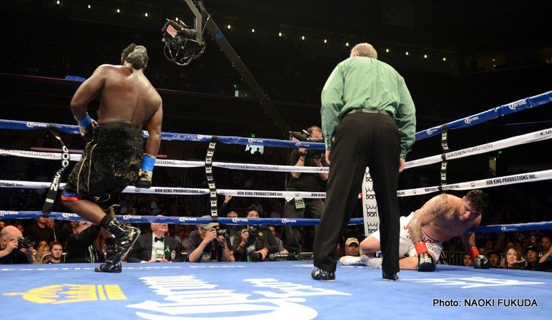 Chris Arreola - If Haitian-born heavyweight puncher Bermane Stiverne didn't prove he was for real in his last fight, when he out-pointed Chris Arreola over 12-rounds, he sure proved it last night in stopping Arreola in the 6th-round. Stiverne, a powerful counter-puncher, was losing the fight last night, yet he sensationally made the score-cards null and void courtesy of his right hand.