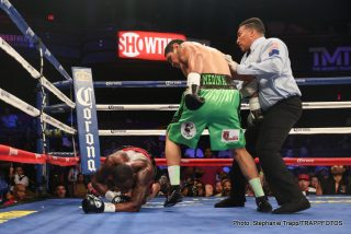 "Badou Jack, J'Leon Love, Rogelio Medina, Ronald Gavril -  Hard-hitting super middleweight Rogelio ""Porky"" Medina (33-6, 27 KOs), of Hermosillo, Sonora, Mexico, registered one of the upsets of the year, knocking out previously unbeaten, world-ranked J'Leon Love (18-1, 10 KOs), of Inkster, Mich., in the third round of a Special Saturday presentation of ShoBox: The New Generation live on SHOWTIME."