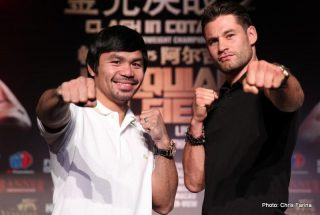 "Chris Algieri - -- click here for LIVE STREAM --  MANNY ""Pacman"" PACQUIAO and CHRIS ALGIERI will host the final U.S. press conference of their 27,273-mile international media tour Today!  Thursday, September 4, at the Liberty Theater in Times Square"