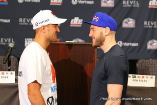 """Sergey Kovalev - ATLANTC CITY - The final press conference was held today for the August 2 title fight between Sergey """"Krusher"""" Kovalev, 24-0-1, 22 KO's and Blake """"Il Capo"""" Caparello, 19-0-1, 6 KO's. Kovalev is putting his WBO Light Heavyweight belt on the line at Revel Casino Hotel in Atlantic City. The 12-round fight will be the second fight in an HBO Boxing After Dark triple header presentaton this Saturday night. The HBO telecast begins at 9:45pm ET/PT."""