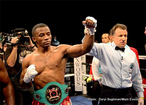 "Thabiso Mchunu - In the main event of the afternoonn cruiserweights Thabiso ""The Rock"" Mchunu (17-1, 11 KOs) and Garrett ""The Ultimate Warrior"" Wilson (13-8-1, 7 KOs) faced off for the NABF Cruiserweight Title."