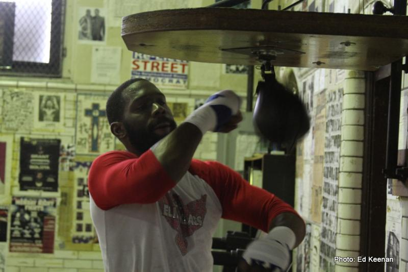 Jennings vs Perez:  Bryant Jennings Media Workout Photos