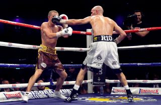 """Paul Butler - """"Boxing is the winner tonight,"""" said promoter Dennis Hobson after Stuart Hall and Paul Butler put on a sensational fight at Newcastle's Metro Radio Arena (June 7)."""