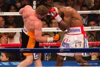 "Canelo vs. Lara - A sellout crowd of 14.239 passionate fans rocked the MGM Grand Garden Arena for tonight's main event.  It was a mostly Mexican, pro Saul ""Canelo"" Alvarez crowd that came to cheer their man on as he took on the highly skilled Cuban southpaw Erislandy Lara."