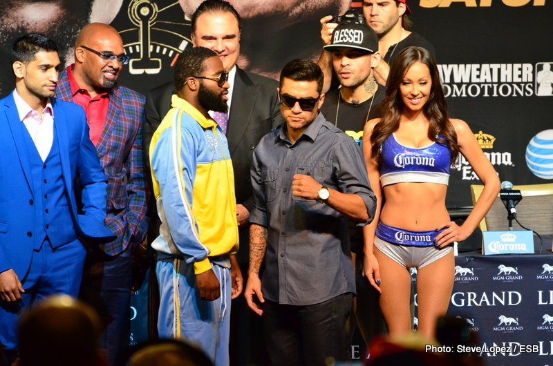 Broner vs. Molina - The Moment's undercard fighters' final press conference took place on Thursday, Day 3 of fight week in Las Vegas.  Each fighter took the podium to say their last words to the press as they prepare for battle in a few days.