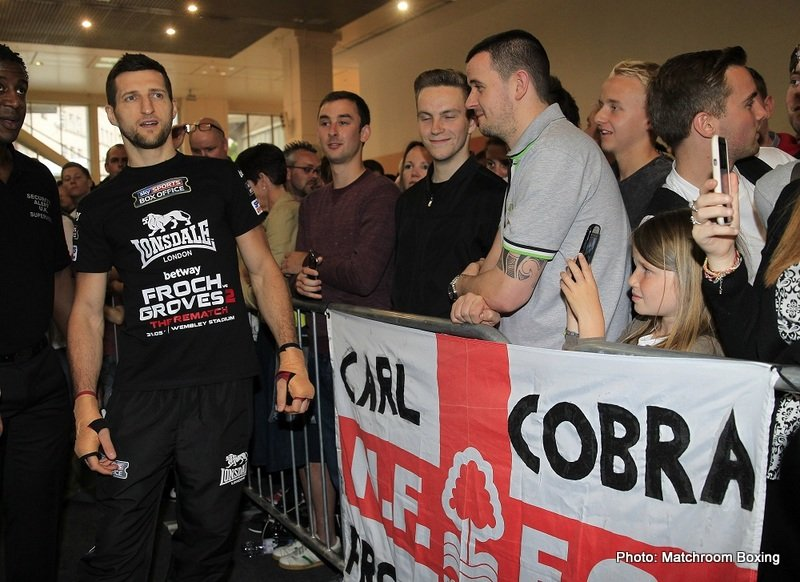Froch Hits Back At DeGale : 'Wouldn't Get Past 8 vs Me'