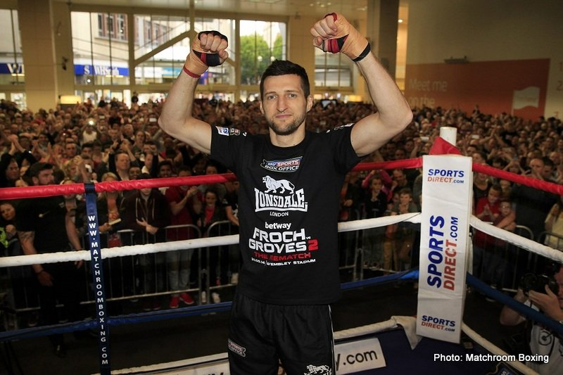 Carl Froch - A number of months ago, George Groves promised James DeGale that he would fight him if he managed to defeat Andre Derrell in a fight for the vacant IBF Super-Middleweight title, something DeGale went on to do on May 23rd.