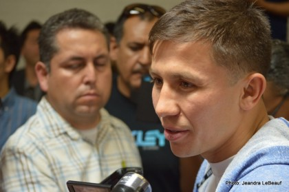 Golovkin vs Geale: Gennady Golovkin LA Media Quotes and Photos