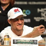 "Hopkins vs. Kovalev - Sergey ""Krusher"" Kovalev 25-0-1(23KO) managed to bundle up three light heavyweight titles (WBA, IBF, & WBO) with his one-sided win over Bernard Hopkins at the Boardwalk Center, Atlantic City, N.J.  The main point of interest, prior to the opening belt, was an expectation that sooner or later the experienced oldster Bernard ""Alien"" Hopkins 55-7-2 (32KO) would manage to set a trap.  When the bait was taken, Hopkins would nail the Russia hard enough to start the ball rolling in his favor.  After all, the Krusher, according to Hopkins, was a crude brawler, whose defense was porous, someone ready to be exploited."