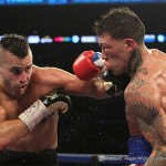 """David Lemieux, Gabriel Rosado - A crowd of 6,532 at Barclays Center were treated to a special performance from two warriors Saturday night as David Lemieux (33-2, 31 KOs)stopped """"King"""" Gabriel Rosado (21-9, 13 KOs)in the 10th round of a very competitive main event on HBO Boxing After Dark."""