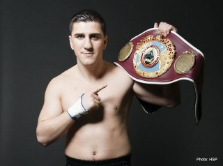 Marco Huck - World Boxing Organization (WBO) Jr. Heavyweight champion Marco Huck was honored today in the first day of works of the 27th Annual Convention take place at the Caesar's Palace Hotel & Casino in Las Vegas, dedicated to former WBO champions and 2014 International Boxing Hall of Fame Inductees Joe Calzaghe and Oscar de la Hoya.