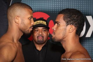 "Badou Jack, J'Leon Love, Ronald Gavril - LAS VEGAS (Aug. 29, 2014) – The six fighters who will compete in tomorrow's Special Saturday presentation of ShoBox: The New Generation live on SHOWTIME® (immediately following the Premiere of ""ALL ACCESS: Mayweather vs. Maidana 2"" Episode 1 at 9:30 p.m. PT/ET) made weight Friday at Palms Casino Resort in Las Vegas."