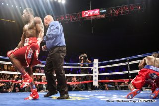 """Adrien Broner, Broner vs. Taylor, Emanuel Taylor - CINCINNATI, Ohio (Sept. 6, 2014) – Adrien Broner and Emanuel Taylor put on a show for """"The Problem's"""" 8,115 hometown fans in attendance at U.S. Bank Arena in Cincinnati, brawling to a close, unanimous decision (115-12, 116-111 twice) for Broner that was arguably one of the best fights of the year."""
