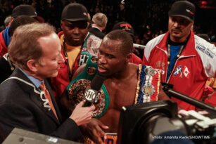 Adonis Stevenson - QUEBEC CITY (Dec. 19, 2014) –  Adonis Stevenson defended his WBC Light Heavyweight World Championship for the fourth time with a devastating fifth-round knockout of Russian challenger Dmitry Sukhotskiy in the main event of SHOWTIME BOXING: SPECIAL EDITION on Friday at Pepsi Coliseum in Quebec City, Canada.