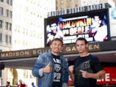 """Daniel Geale, Gennady Golovkin, Golovkin vs. Geale - Today at 12:30 p.m. ET, a Press Conference to officially announce the""""G4"""" boxing extravaganza will be held in New York City. """"G4"""" is headlined by the World Middleweight Championship between World Boxing Association """"Super Champion"""" and International Boxing Organization Champion Golovkin and Two-Time World Champion Geale. Co-featured at """"G4"""" is the highly anticipated 12-round World Boxing Council Heavyweight Title Eliminator between Jennings and Bryant."""