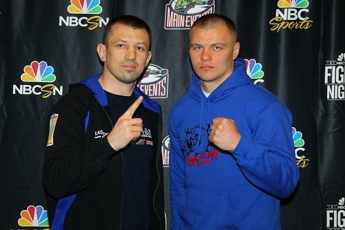"""Czar Glazkov, Tomasz Adamek - Bethlehem, PA: This afternoon at the Sands Casino Resort in Bethlehem, PA members of the media gathered for the press conference for this Saturday's fight between Tomasz """"Goral"""" Adamek and Vyacheslav """"Czar"""" Glazkov on NBCSN Fight Night at 9:00 PM ET.  Below are highlighted quotes and photos from the press conference."""