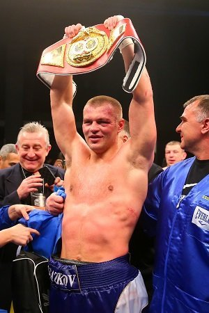 Adamek vs. Glazkov, Tomasz Adamek - Photo: Rich Graessle/Main Events -- Tomasz Adamek (49-3, 29 KO's) ran out of luck tonight in his dream of fighting for another heavyweight world title, as the younger and stronger Vyacheslav Glazkov (17-0-1, 11 KO's) pounded out a 12 round unanimous decision tonight in beating Adamek in front of his own fans at the Sands Casino Resort, in Bethlehem, Pennsylvania, USA. Adamek took a beating in the fight and ended up with a right eye that was nearly swollen closed courtesy of the hard jabs that Glazkov was hitting him with all night.