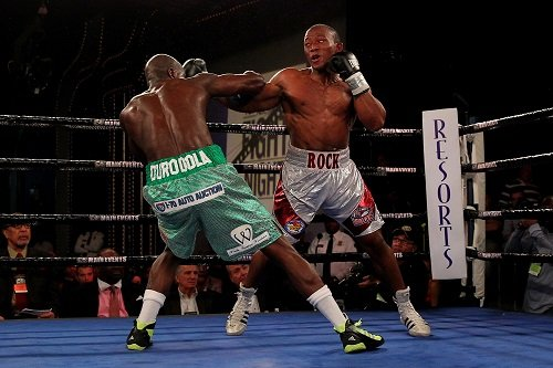 """Thabiso Mchunu - Photo: Rich Graessle/Main Events - Pretoria, South Africa:    Thabiso """"The Rock"""" Mchunu (16-1, 11 KOs), the southpaw from South Africa, will fight for the vacant IBF International Cruiserweight Title against Julio """"Gaspar"""" Cesar Dos Santos (26-2, 23 KOs), the veteran from Sao Paulo, Brazil, on June 6th at Rembrandt Hall at the University of Pretoria in Pretoria, South Africa.  The fight is scheduled for ten rounds."""